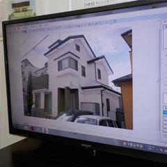 八千代の塗り替え・菅野建装_カラーシミュレーションイメージ