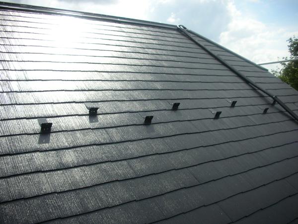 コロニアル屋根 スレート屋根  屋根塗装